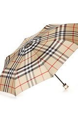 Burberry Trafalgar Packable Check Umbrella - Lyst