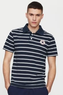 Converse Mens Stripe Polo Shirt - Lyst