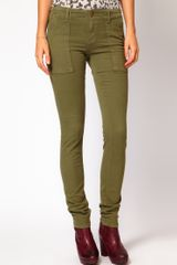 Current/Elliott Current Elliot Combat Skinny Jeans in Army