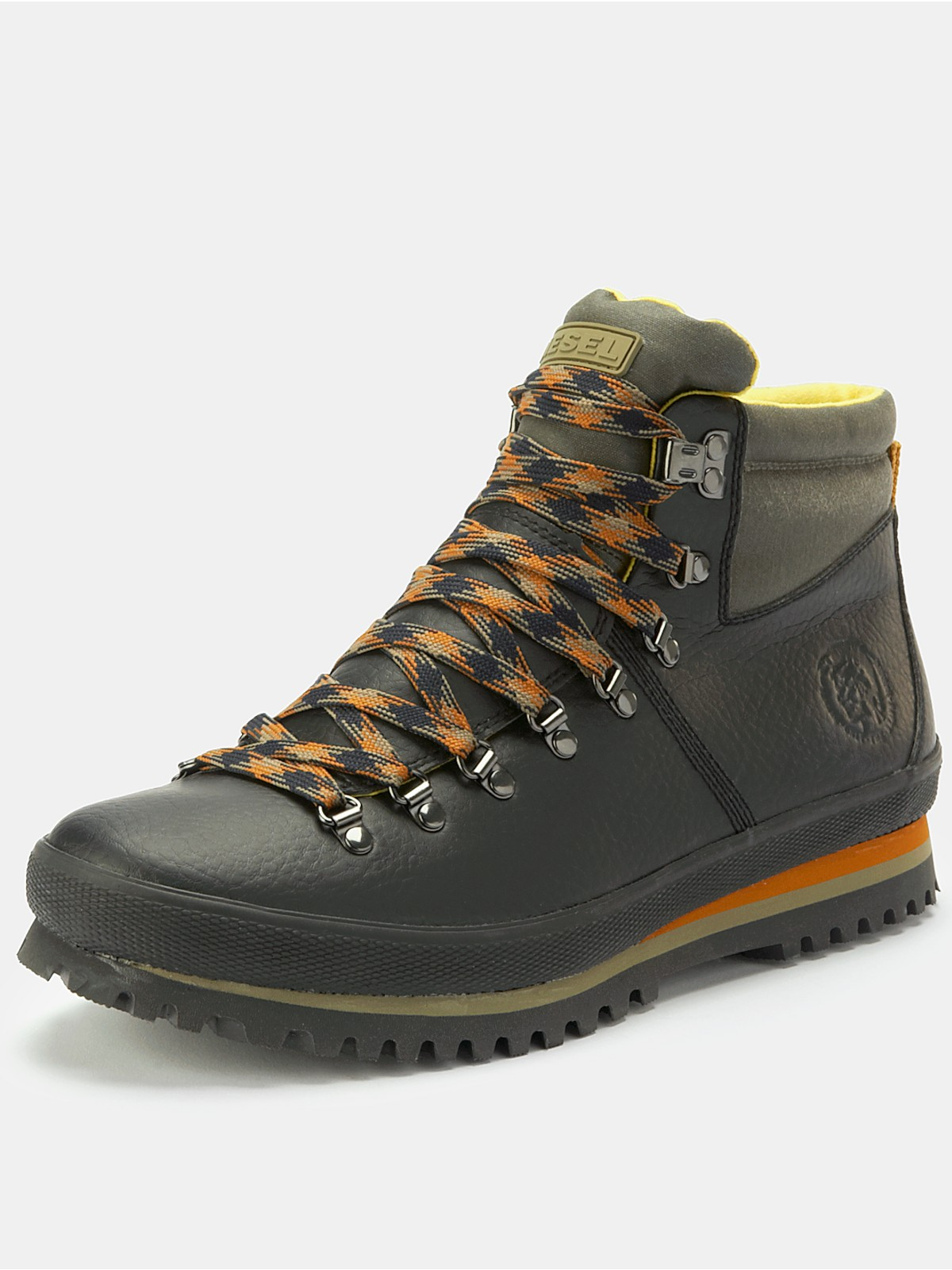 diesel mens boots in black for lyst