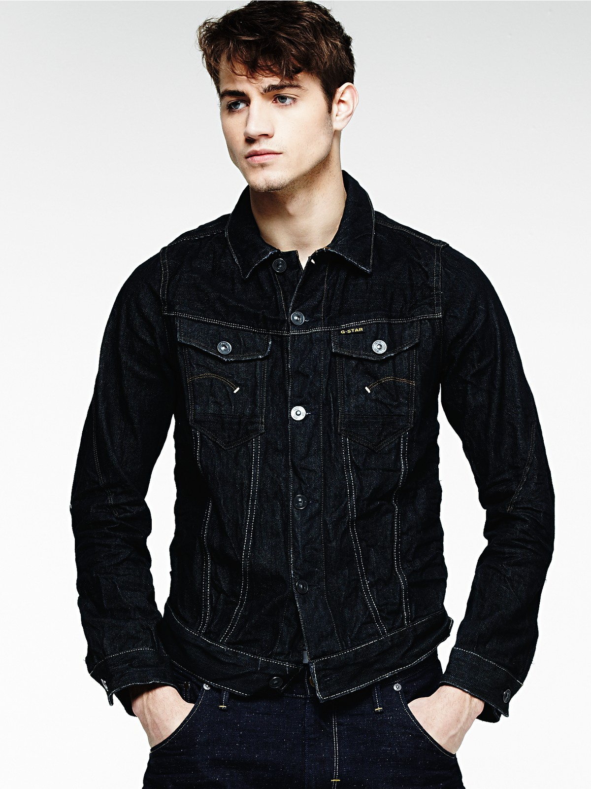 ecafe7a2f7648 G-star Raw Denim Jacket In Black For Men (3d raw)
