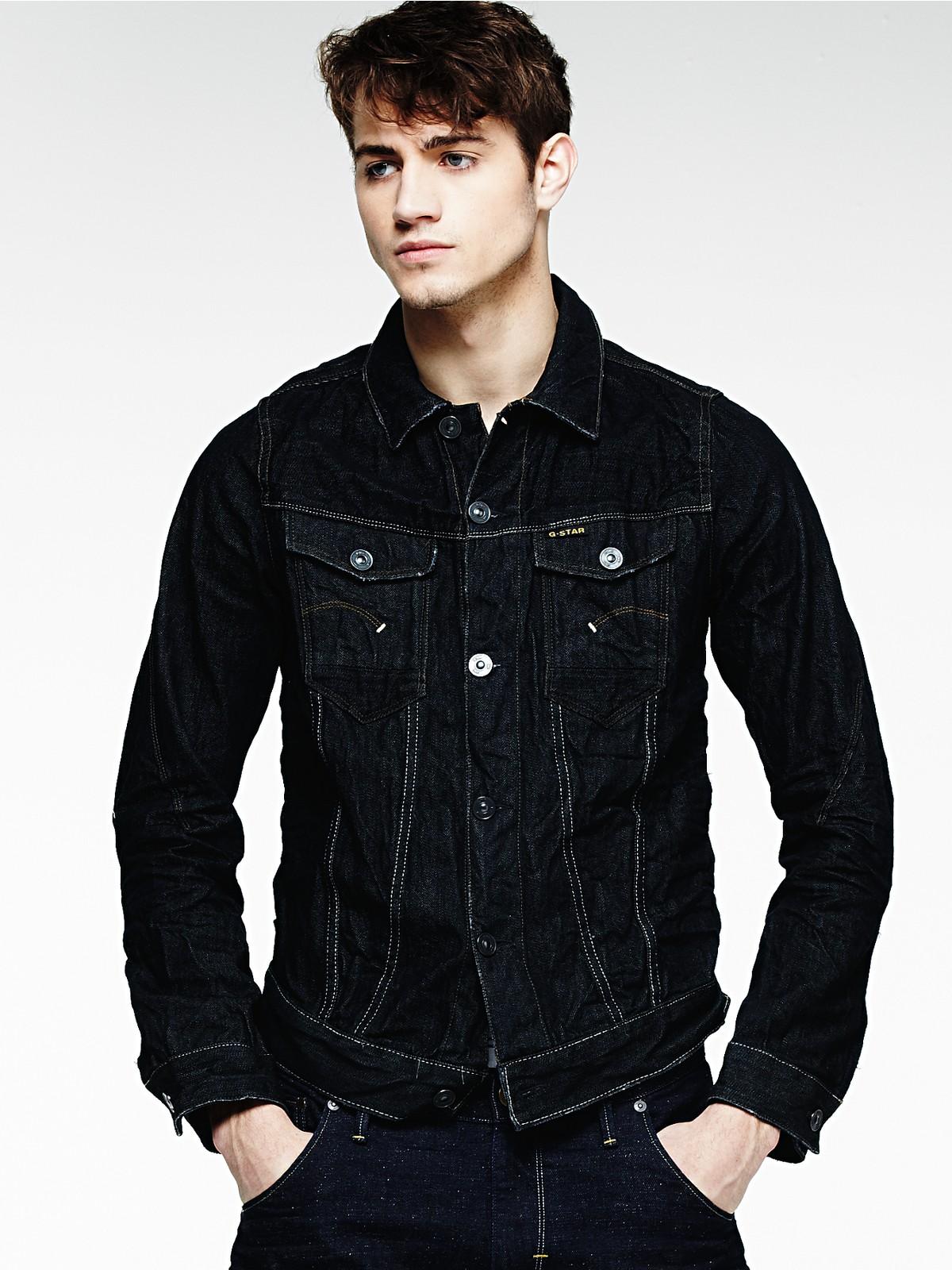 g star raw denim jacket in black for men 3d raw lyst. Black Bedroom Furniture Sets. Home Design Ideas
