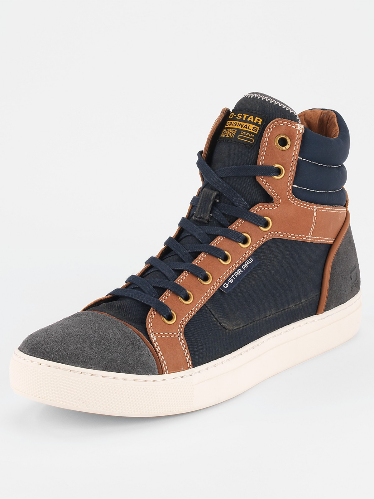 g star raw gstar raw mens samovar wax hi top boots in brown for men navy tan lyst. Black Bedroom Furniture Sets. Home Design Ideas