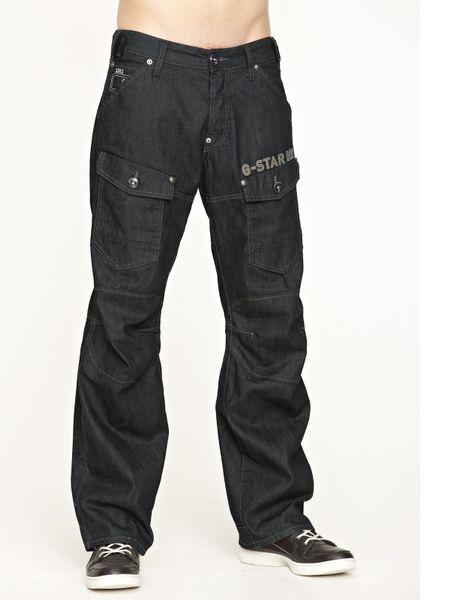 g star raw storm elwood mens loose fit jeans in blue for. Black Bedroom Furniture Sets. Home Design Ideas