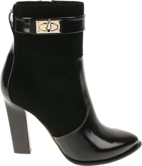 Givenchy Leather and Suede Ankle Boots in Black - Lyst