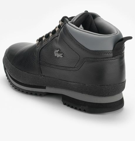lacoste upton mens casual boots in black for men  lyst
