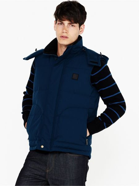 Lacoste Mens Padded Gilet In Blue For Men Navy Lyst