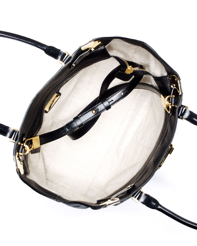Lyst Michael Kors Blake Large Pebbled Leather Satchel In