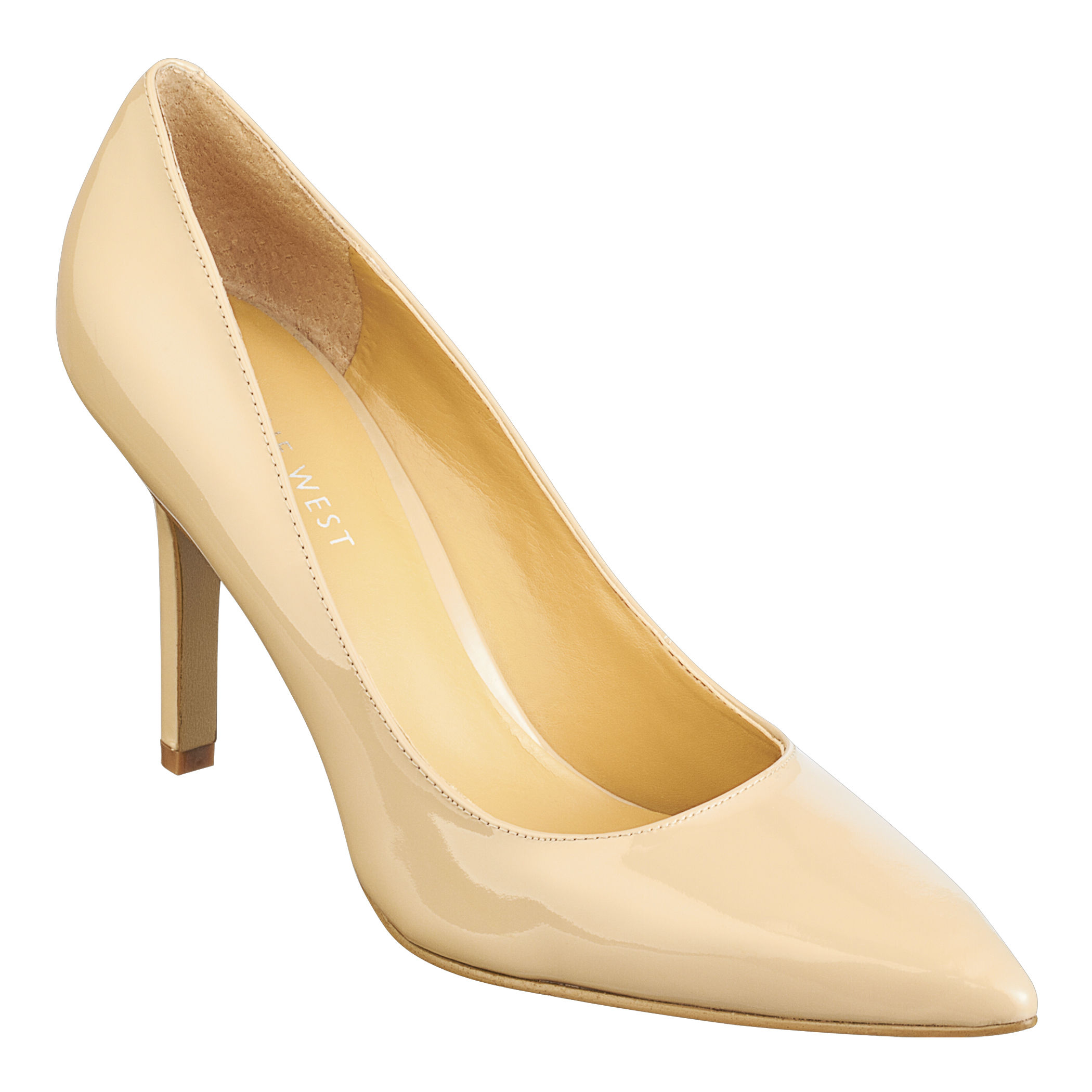 9e72cdba74f Lyst - Nine West Martina Pointy Toe Pumps in Natural