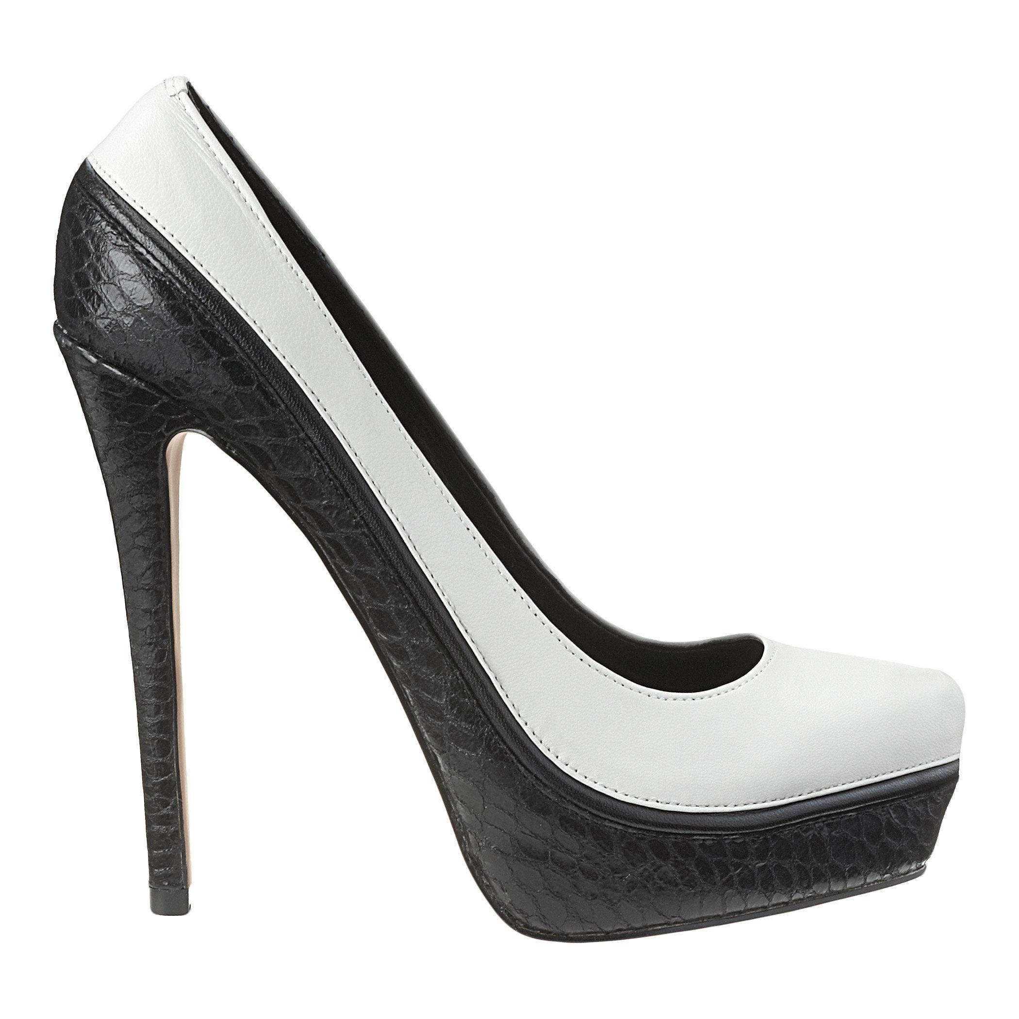 nine west kya in white white black leather lyst
