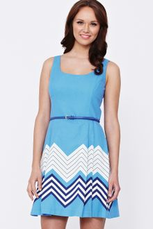 Oasis Oasis Chevron Strip Dress - Lyst