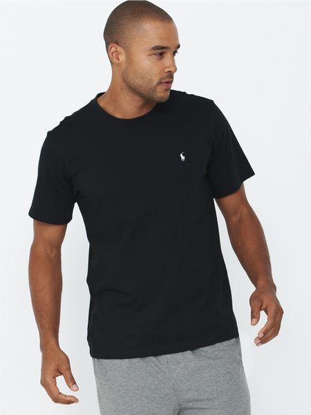 Polo ralph lauren sleepwear t shirt in black for men lyst for Robe chemise ralph lauren