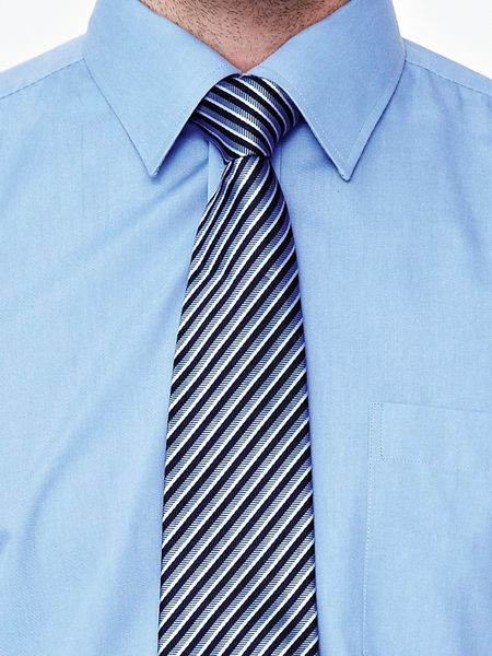 skopes skopes mens shirt and tie set blue in blue for