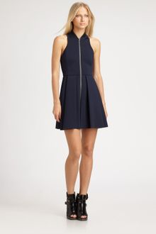T By Alexander Wang Pleated Neoprene Dress - Lyst