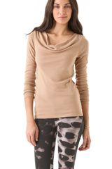 Three Dots Cowl Neck Top - Lyst