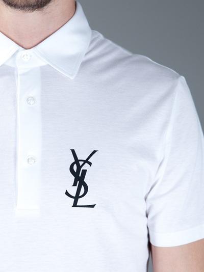 Yves saint laurent polo for Yves saint laurent logo shirt