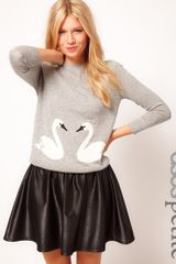 Asos Petite Exclusive Jumper with Swan Print - Lyst