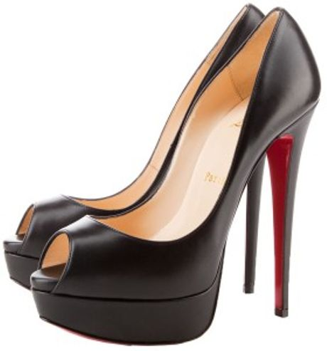 Christian Louboutin Lady Peep Platform Pumps in Black