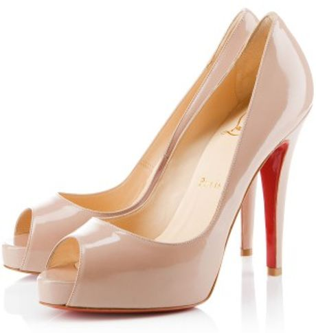 Christian Louboutin Very Prive in Beige - Lyst