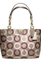 Coach Madison Op Art Multi Sateen Tote - Lyst