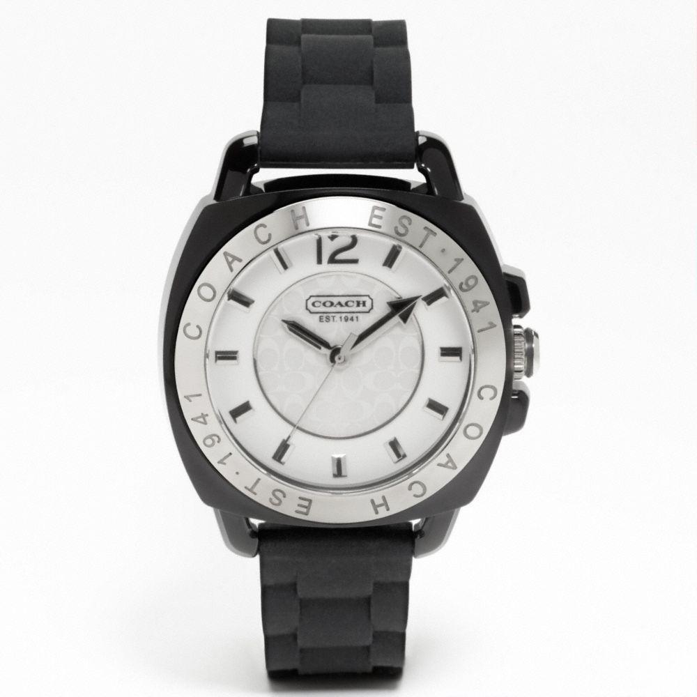 d60626ab4 COACH Coach Boyfriend Rubber Strap Watch in Black - Lyst