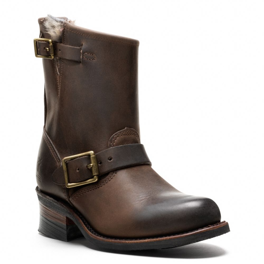Coach Frye For Coach Fur Lined Engineer Boot in Brown