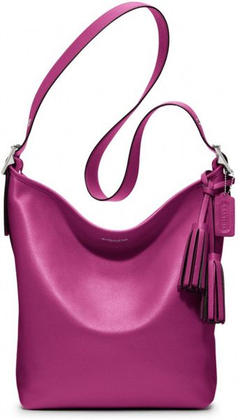 Coach Legacy Leather Duffle in Purple (silver/berry) - Lyst
