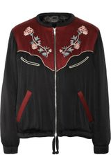 Isabel Marant Lindsey Embroidered Sateen Jacket - Lyst