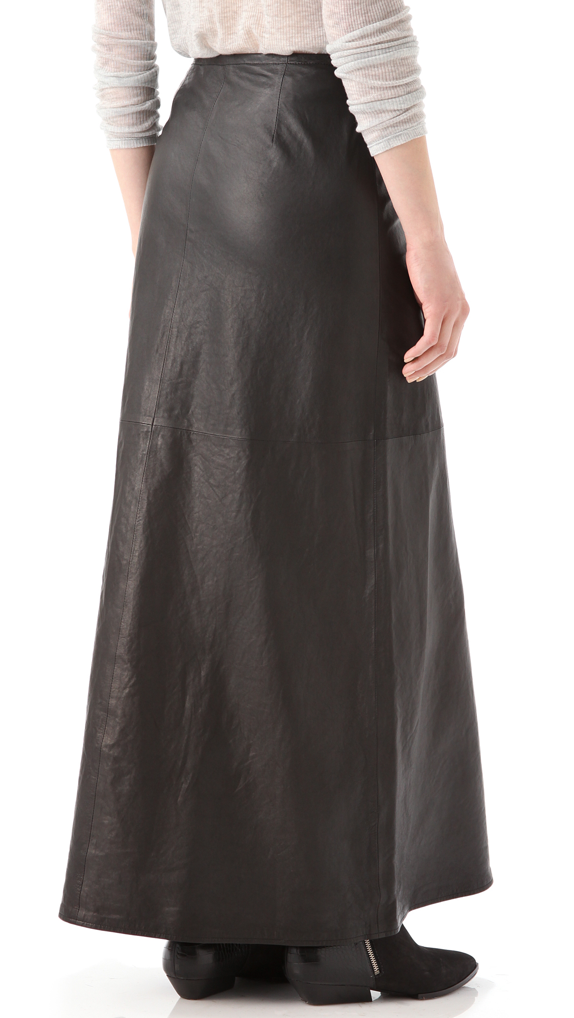 4104fd4c1383a2 Gallery. Previously sold at: Shopbop · Women's Black Leather Skirts