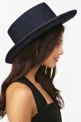 Nasty Gal Madrid Wool Hat Navy - Lyst