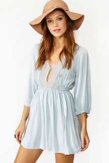 Nasty Gal Zeppelin Dress Sky Blue - Lyst