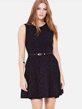 Oasis Oasis Dragonfly Jacquard Dress - Lyst