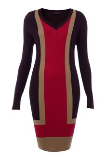Pied A Terre Colour Block Knit Dress - Lyst