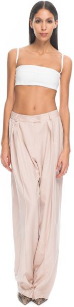Preen By Thornton Bregazzi  Bigger Fold Trousers in Nude in Beige (nude)