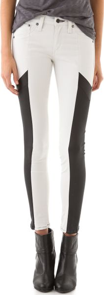 Rag & Bone Grand Pix Motocross Legging Jeans in White - Lyst
