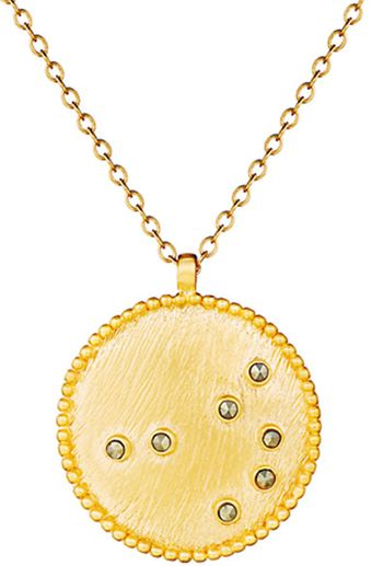 Satya Jewelry Gold Pyrite Constellation Necklace in Aurora - Lyst