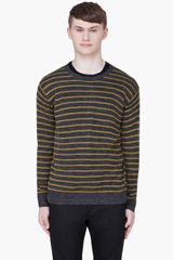 T By Alexander Wang  Striped Wool Knit Sweater - Lyst