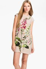Ted Baker Foxglove Print Silk Dress - Lyst