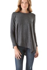 Three Dots Asymmetrical Sweater - Lyst