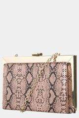 Topshop Snake Embossed Frame Shoulder Bag - Lyst