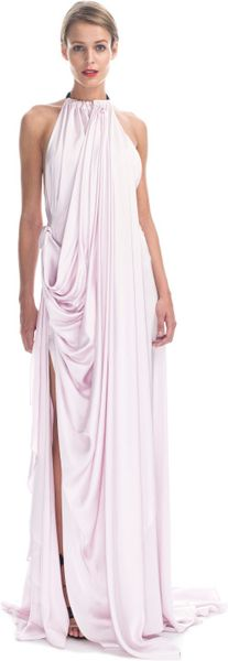 Vionnet  Viscose Satin Gown in Pink (pink orchid/black) - Lyst
