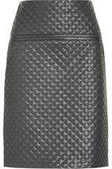 Chloé Quilted Leather Skirt - Lyst
