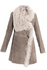 Closed Shearling Coat - Lyst