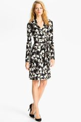 Diane Von Furstenberg New Jeanne 2 Dress in Black (grand piano jade) - Lyst