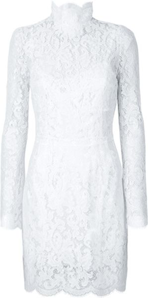 Dolce & Gabbana Lace Dress in White - Lyst
