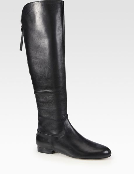 elie tahari leather boots in black lyst