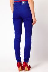 House Of Holland Skinny Jeans in True Blue in Blue - Lyst
