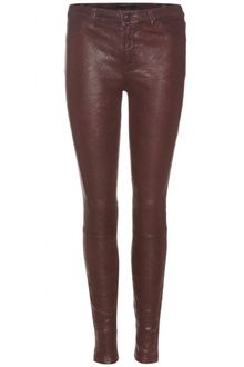 J Brand Leather Leggings with Zippered Ankles - Lyst