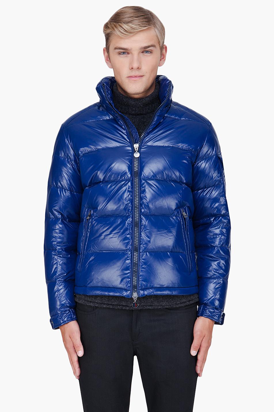 moncler maya jacket dark blue
