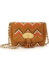 Mulberry Zigzag Lily Suede Shoulder Bag - Lyst
